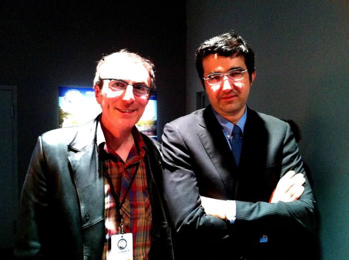 Philippe Dornbusch, Directeur de Chess & Strategy en compagnie de Vladimir Kramnik © Chess & Strategy