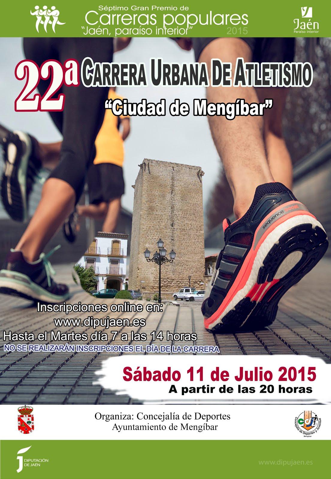 """CLASIFICACIONES 22ª CARRERA URBANA """"CIUDAD DE MENGÍBAR""""  2015 (PINCHAR EN CARTEL)"""