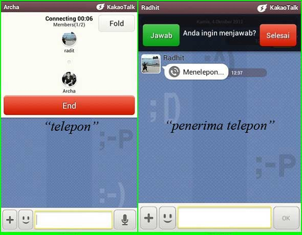 "... Request Free Call"" setelah tekan tanda tombol ""+"" di chat room"