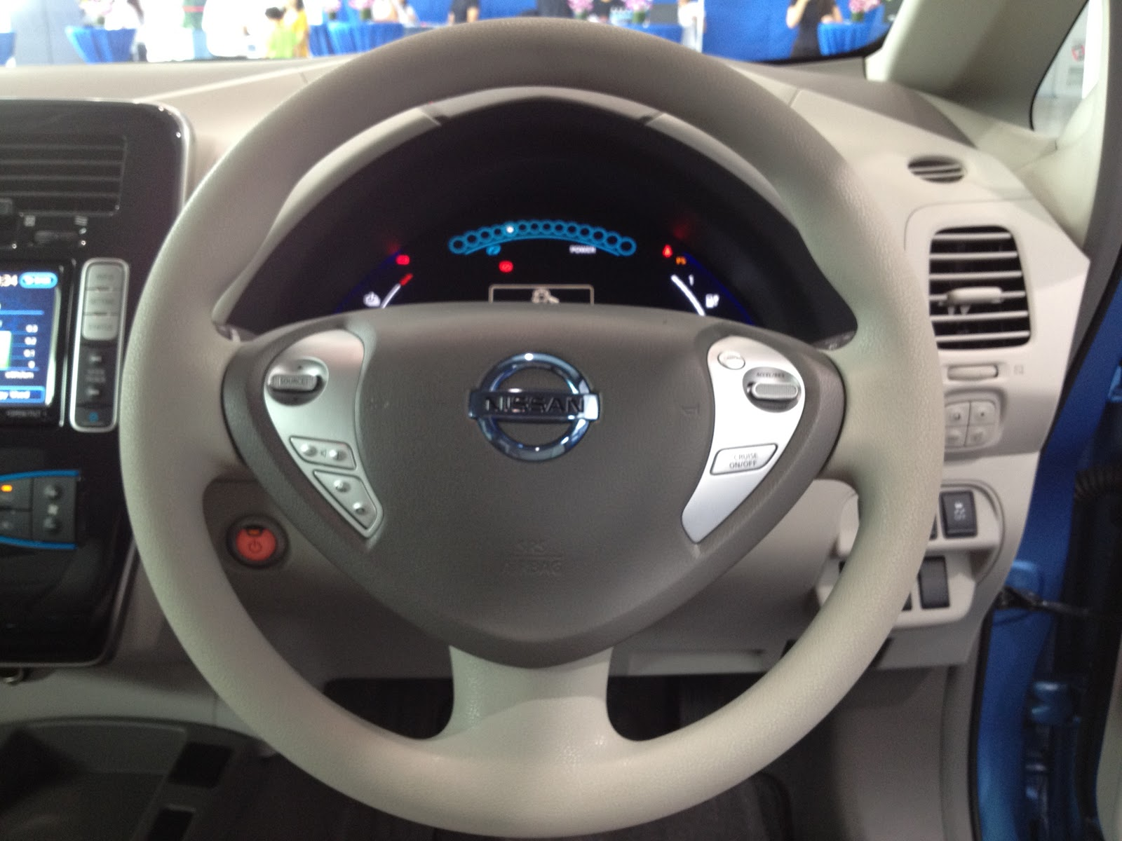 The Nissan Leaf Electric Car For Everyone Kensomuse Wire Connector Plug Motorcycle Marine 10cm Wirein Wiring Harness On Right Side Below Steering Youll Find A Few More Buttons
