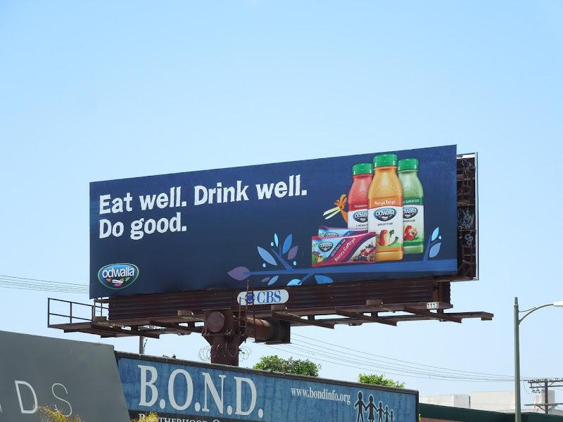 Eat Well Odwalla billboard