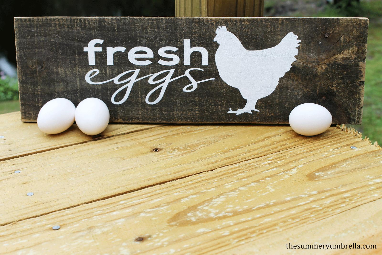 fresh eggs reclaimed wood