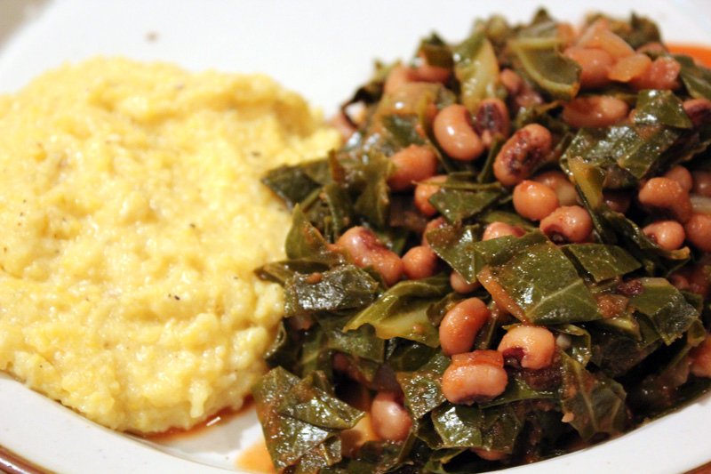 Vegan eats treats daddy 39 s southern favorites for Creamy polenta with mushrooms and collards
