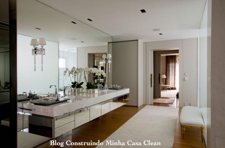 Construindo Minha Casa Clean Banheiros Femininos com Penteadeiras! O Sonho d -> Armario Banheiro Sp