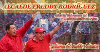Dr. Freddy Rodríguez Alcalde del Municipio Ambrosio Plaza
