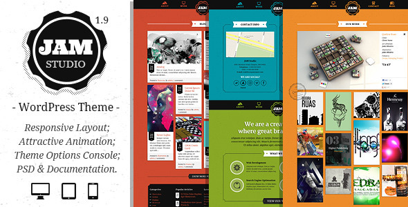 ThemeForest - Jam Studio - Responsive WordPress Theme