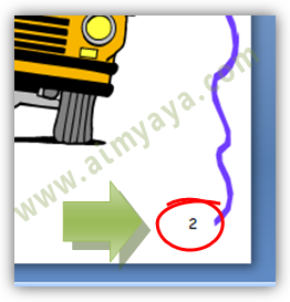 Gambar:  Contoh nomor Slide Presentasi Powerpoint