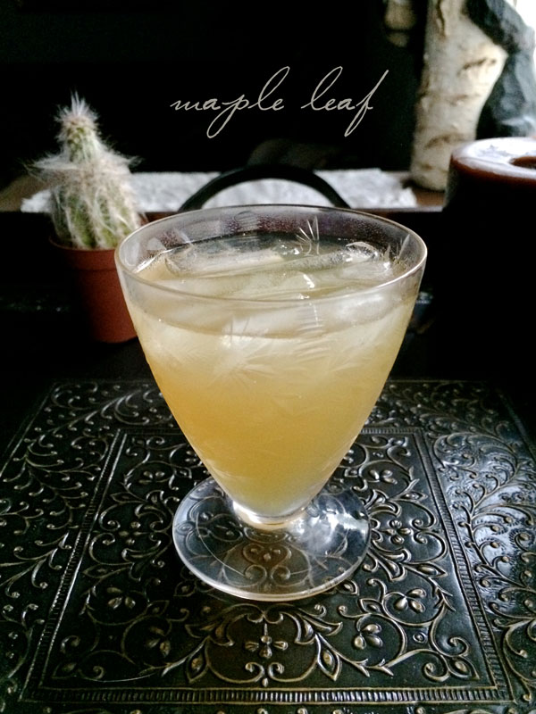 maple leaf cocktail | recipe