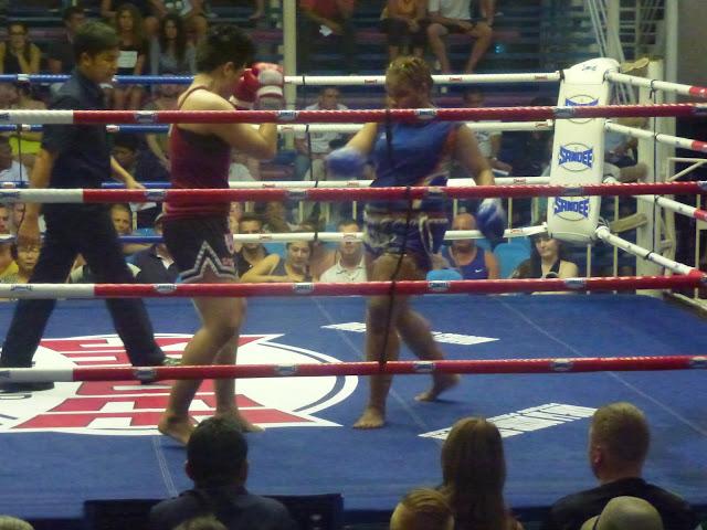Women's Thai boxing at Bangla Road stadium, Phuket