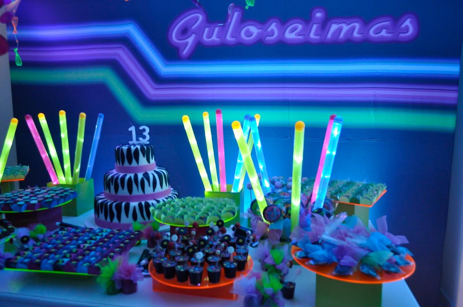 decoracao festa neon:Para a turma que quer dançar esse tema é uma ótima opção.