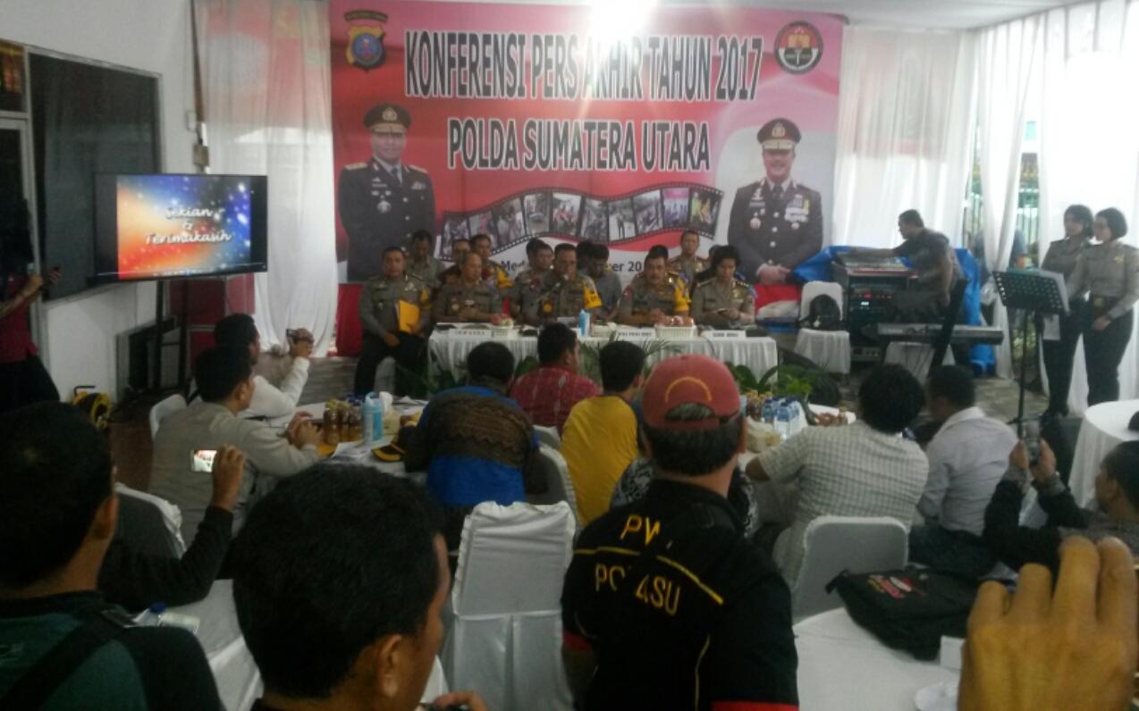 Release Akhir Tahun 2017, Polda Sumut Berhasil Ungkap 21.556 Kasus