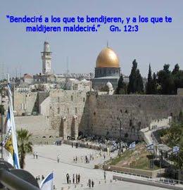 Bendecimos y apoyamos a Israel pueblo amado de Dios