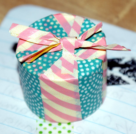 DIY Washi Tape Lip Balm Pot - All Tied Up in a Bow Lip Balm Pot