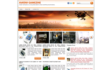 Avatar Gamezine Blogger Template