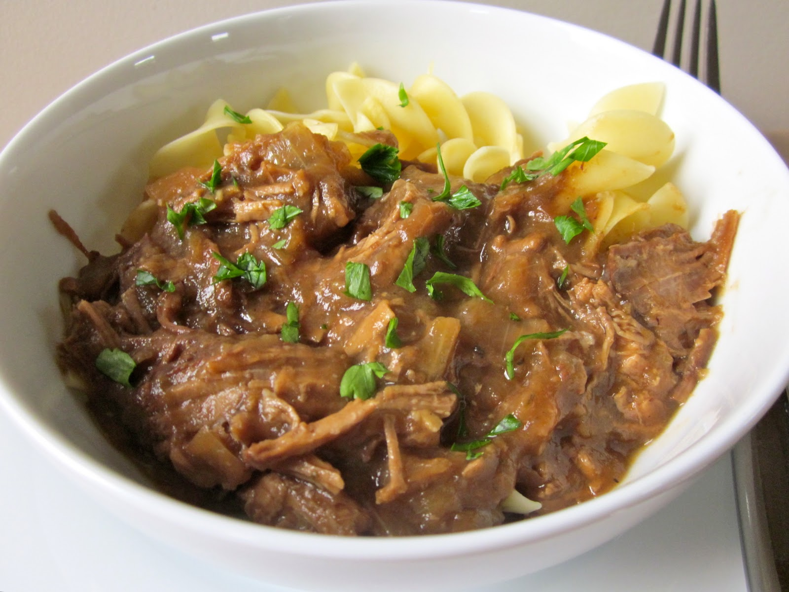Much Kneaded: Slow-Cooker Beef Brisket with Onion Gravy