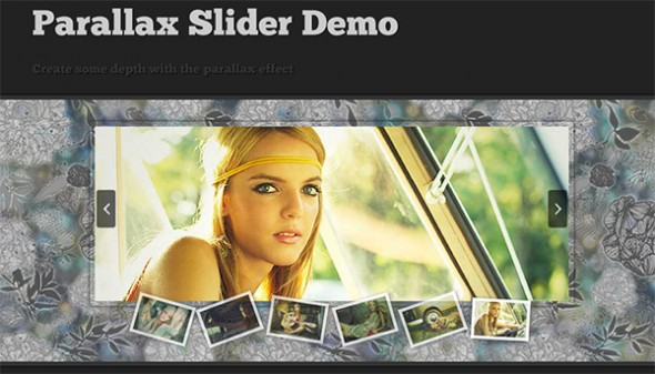Slider with a parallax effect with jQuery