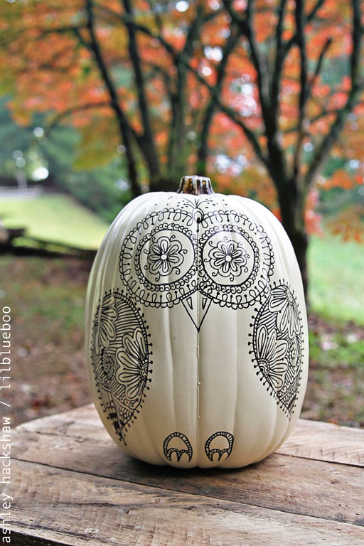 My Owl Barn How To Make Owl Pumpkin With Sharpie