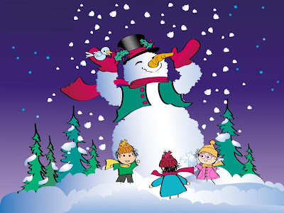 Free Snowman Cartoon Wallpaper Free