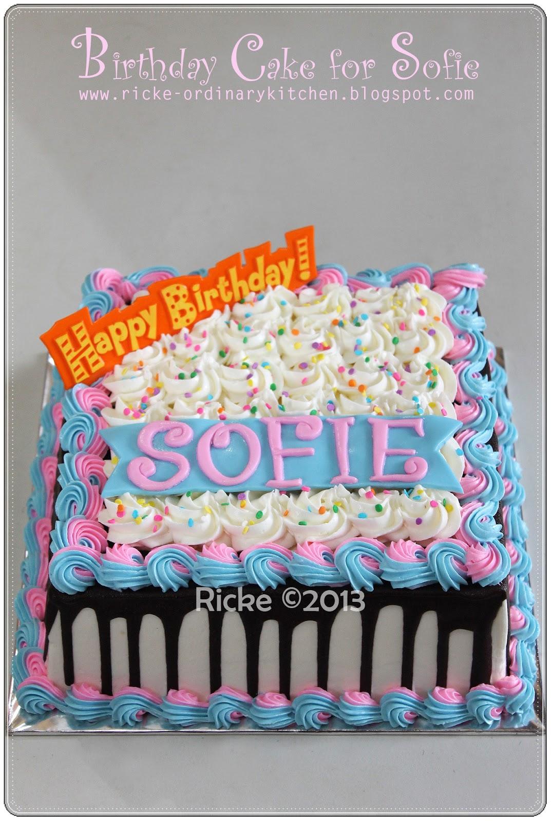 BIRTHDAY CAKE FOR SOFIE 1000 Aneka Resep Masak