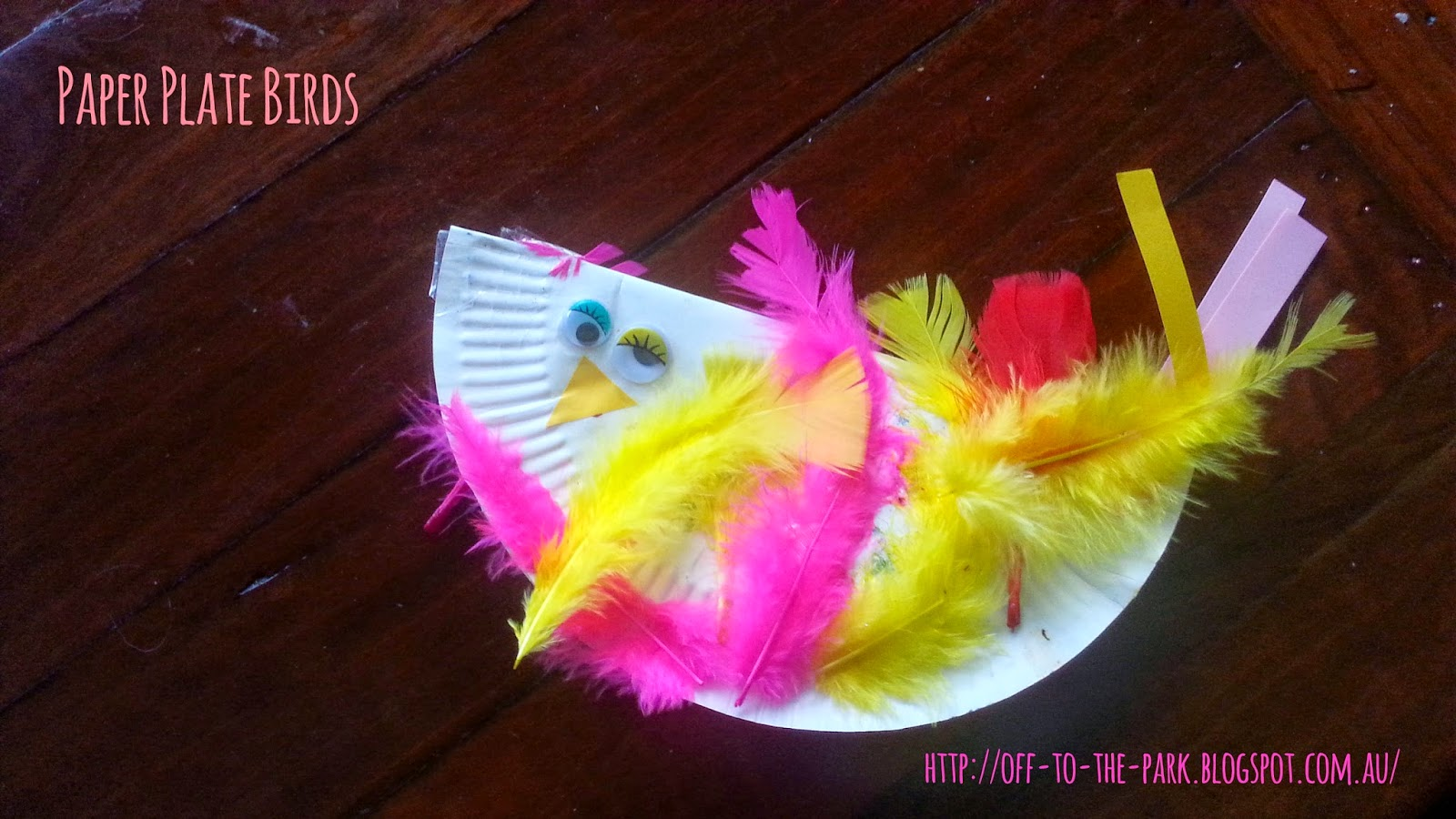 & Off to the park: Craft: Paper plate birds