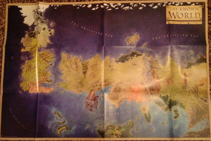 The Wertzone The Lands of Ice and Fire by George RR Martin
