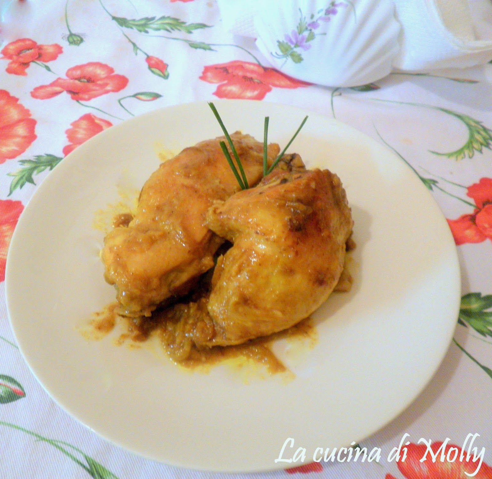 fusi di pollo al curry