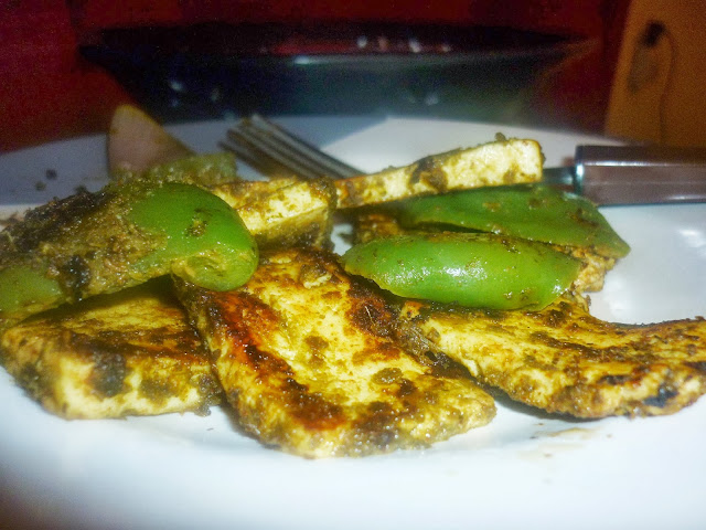 Homemade Mint Paneer Tikka recipe