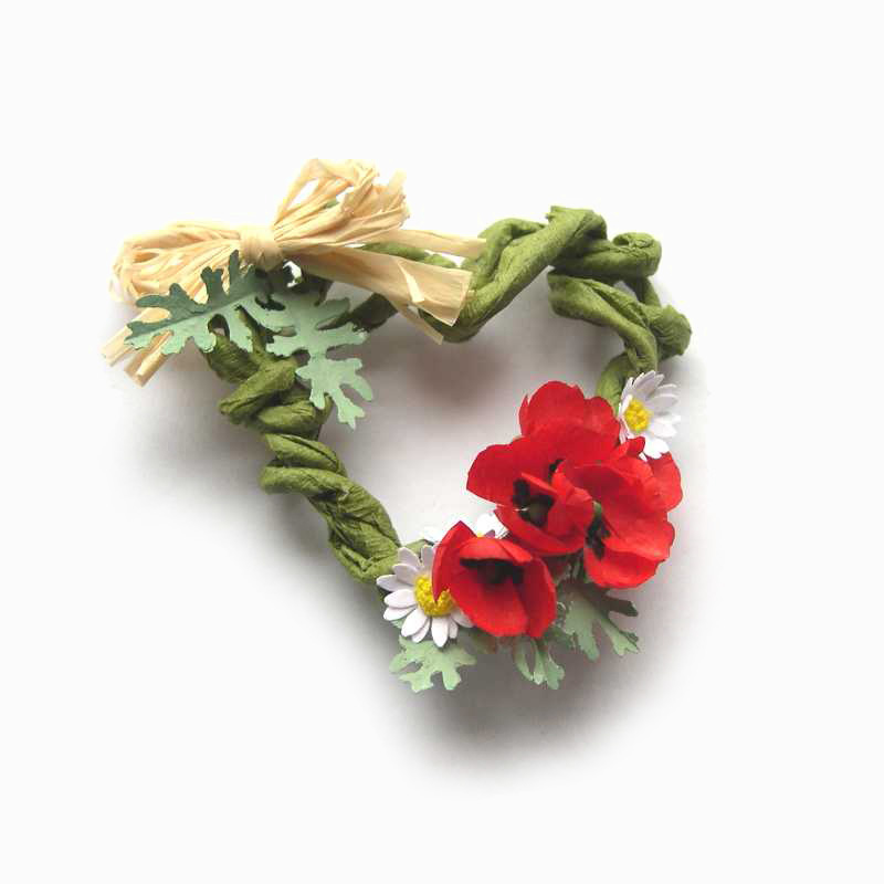 Poppies wreath fo dollhouse