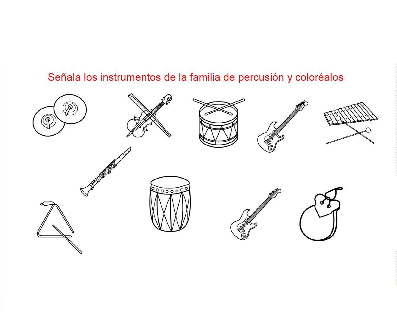 TICaE - Grupo 7 (miércoles): Actividad Instrumentos Musicales.
