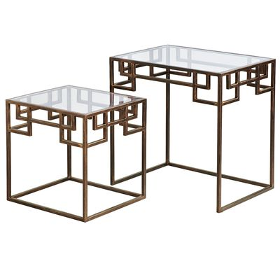 PIER 1 IMPORTS GREEK KEY NESTED TABLES