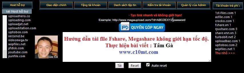 LeechVietProVN Get Link Fshare Megashare