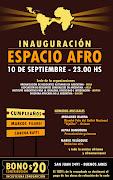 Publicado por Diáspora Africana de la Argentina 0 comentarios invitaci espacio afro