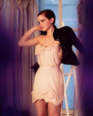 Emma Watson imagen del perfume Trésor Midnight Rose