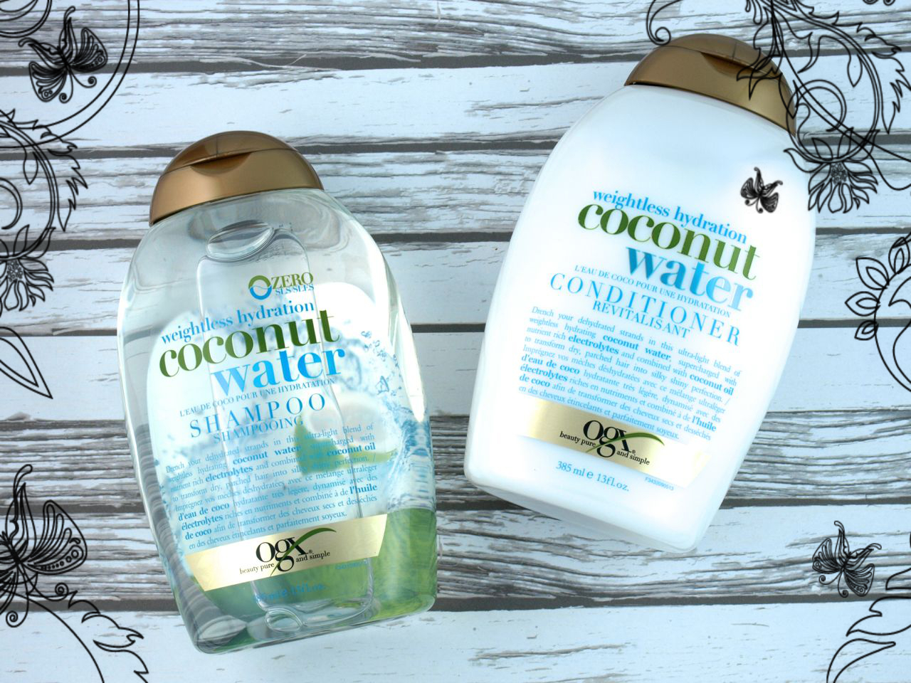 ogx coconut water shampoo and conditioner review