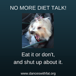 No Diet Talk Zone