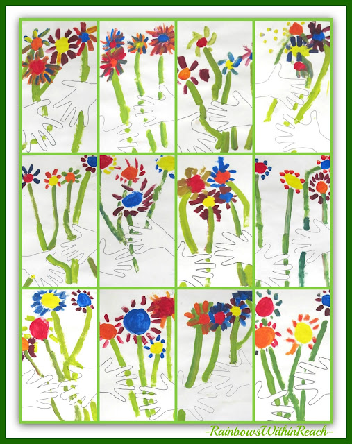 "photo of: Collage of Kindergarten ""Picasso-Inspired"" Bouquets via RainbowsWithinReach"