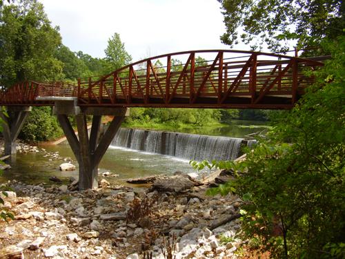 Lake Fayetteville Trail Spillway Bridge