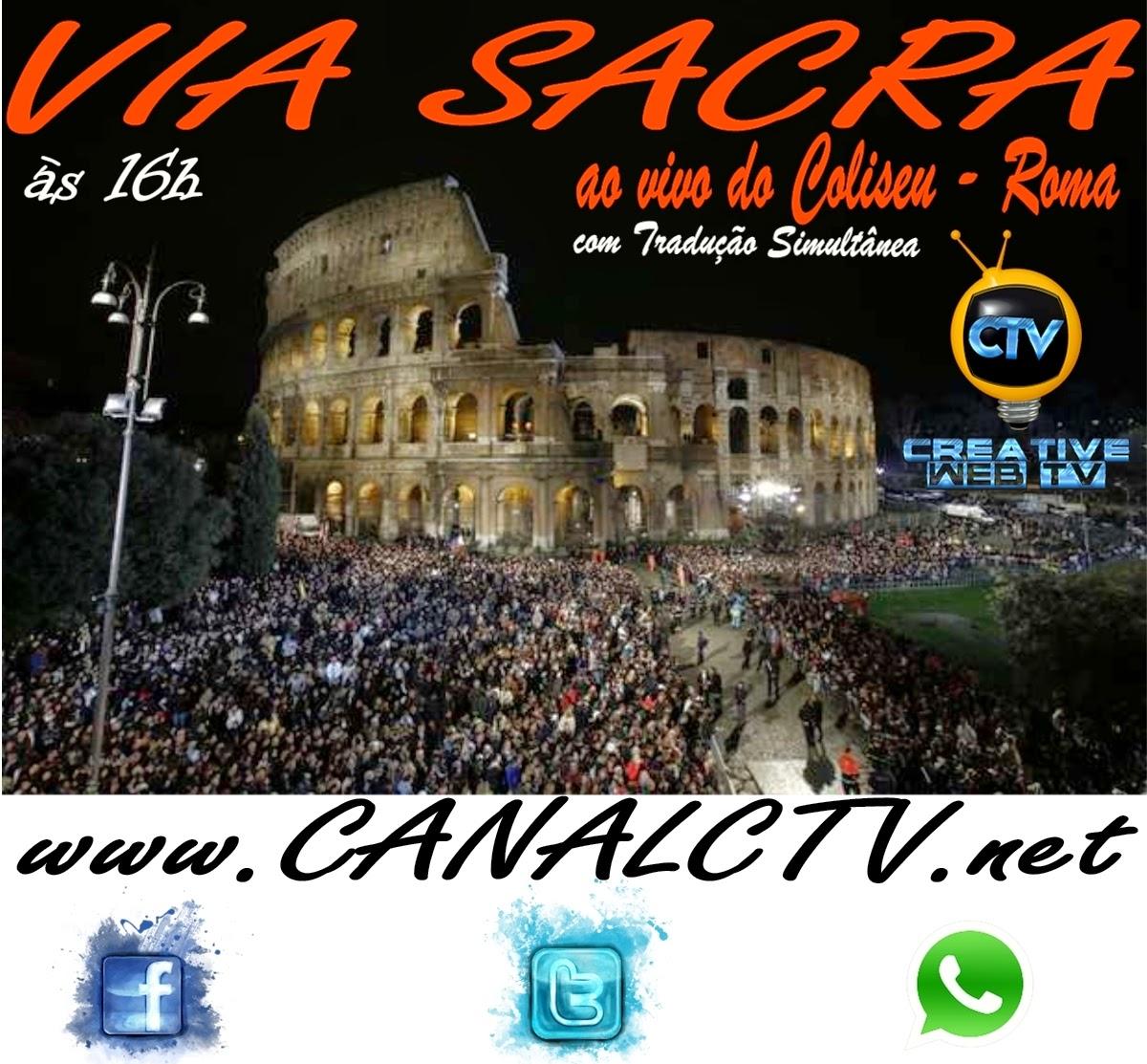 Creative Tv Transmite A Via Sacra Ao Vivo De Roma It Lia As 16h  -> Sala De Redacao Na Tv Ao Vivo