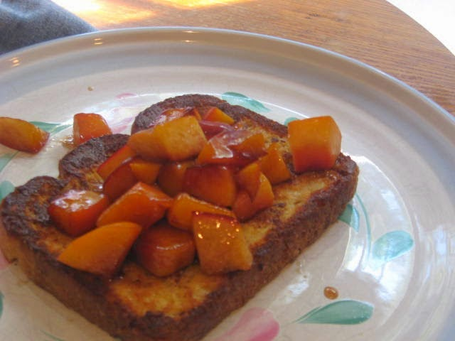Featured Recipe: French Toast with Peaches from Kate's Kitchen #secretrecipeclub