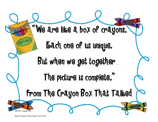Crayon Box That Talked Poem