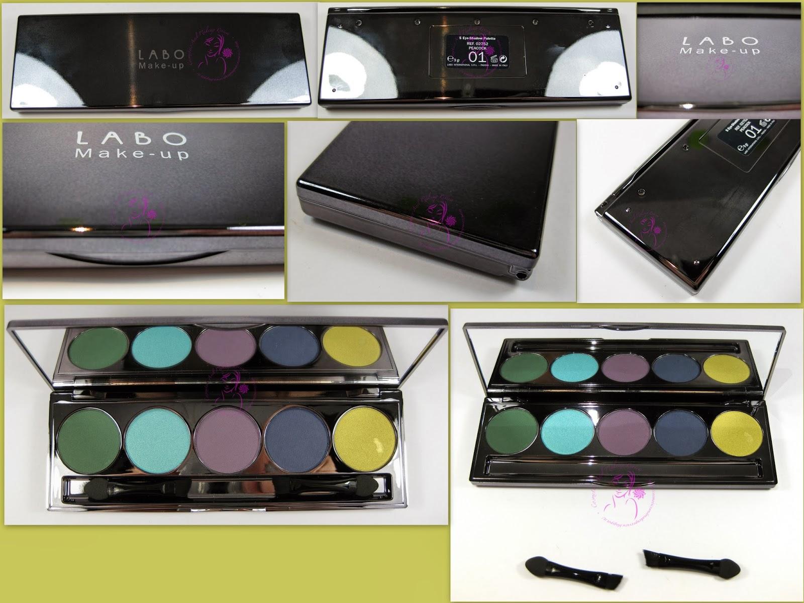 Labo Make-up - Palette 5 Ombretti n° 01 - Peacock/Pavone - descrizione