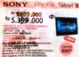 harga tablet sony xperia terbaru
