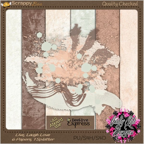 Free scrapbook august blog train from Country Style Designs