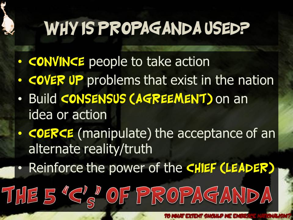 was propaganda the main reason for But there was also difficulty in conceptualizing some of the main facets of the geopolitical makeup, because of the propaganda behind it, as pilger details: [some of the war atrocities that had come to light] represented  the war itself: an all-out assault on the vietnamese people, regardless of whether they were communist or non-communist.