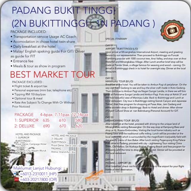 PADANG BUKIT TINGGI - MINANG KABAU