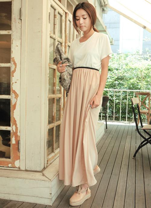 Stylenanda Banded Waist Long Skirt Kstylick Latest