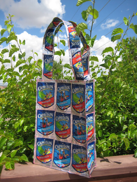 recycling ideas: capri sun bag tutorial