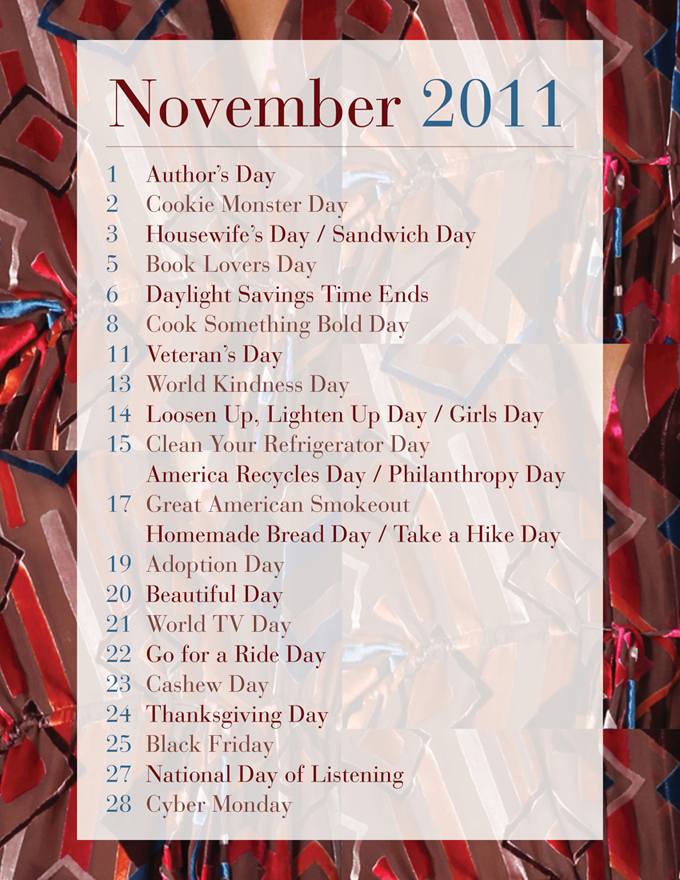 mimiandmegblog.com : Celebrate 2011: November Calendar