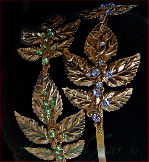 Couronne Laurier Feuilles Bronze Serre Têtes Coiffure Elfique