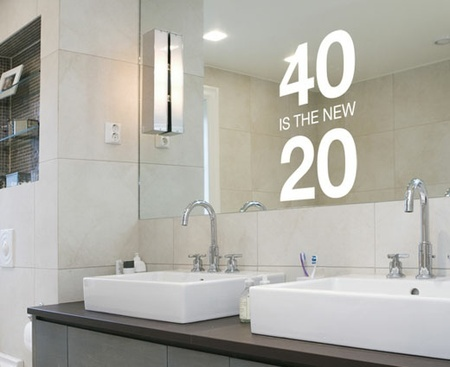 Bathroom Decor Funny 40 Is The New 20 Sticker Decal